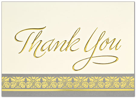 Golden thank you card business thank you cards from posty cards golden thank you card blank 749d x zoom reheart Choice Image