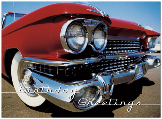 Classic Car Birthday Card 828U Y Zoom