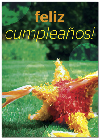 spanish birthday cards  festive piñata  xdy, Birthday card