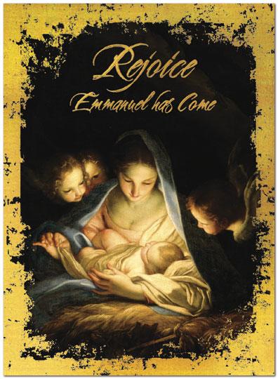 Rejoice Emmanuel Greeting Card | Religious Christmas Cards