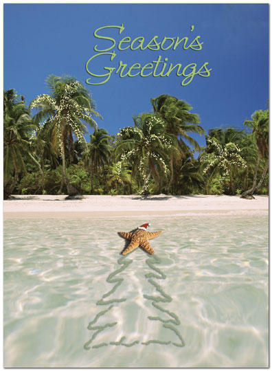 Tropical Surprise Holiday Card X580U-A