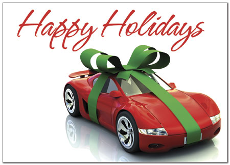 Holiday Car Greeting Card X581D-A