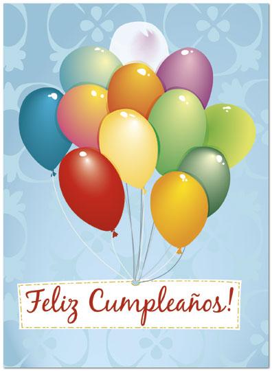 Feliz Cumpleanos Balloons Card