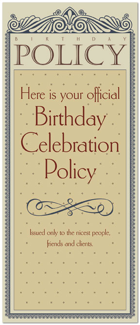Birthday Policy Card 144L-Y
