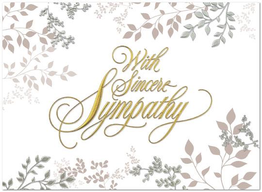 153u x sympathy leaves business sympathy cards posty cards inc sympathy leaves greeting card 153u x zoom m4hsunfo