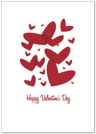 Floating Valentines Card Business Valentine S Day Card Posty Cards
