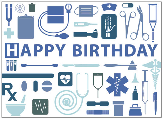 Medical Birthday Card Business Birthday Cards Posty