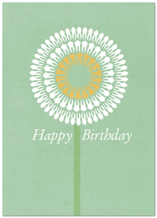 Tooth Flower Birthday Card