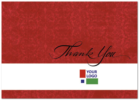 Red logo thank you card custom business thank you card posty cards red logo thank you card d108d v zoom reheart Images