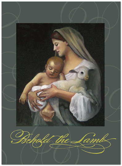 Behold the Lamb Christmas Card H1300U-AA