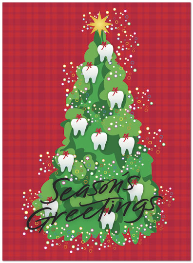 Tooth Ornaments Holiday Card H1316U-A