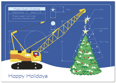 Tree Construction Holiday Card H1319D-A