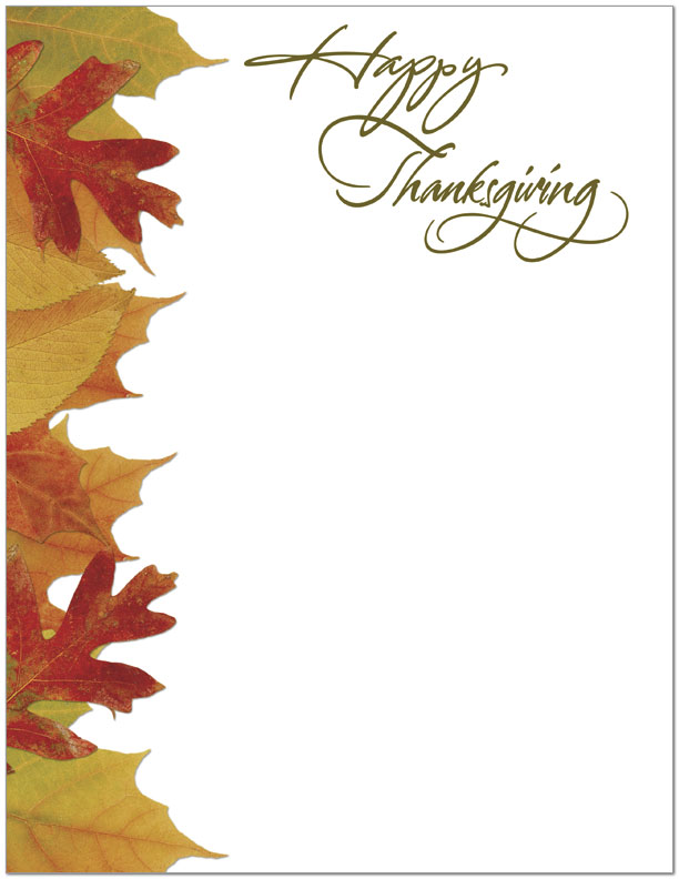 Thanksgiving letterhead business thanksgiving cards for Thanksgiving letterhead