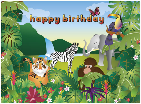 Safari Birthday Card Kids Birthday Cards Posty Cards Inc