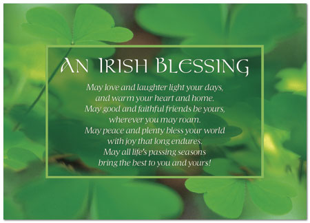 Irish Blessing Card Business St Patricks Day Cards