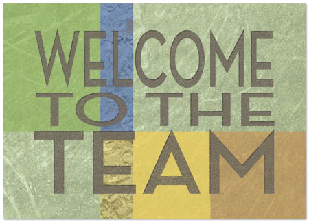 team welcome card employee welcome cards posty cards inc