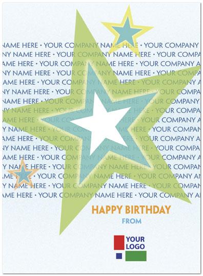Birthday Stars Name Card Custom Birthday Cards Posty Cards Inc