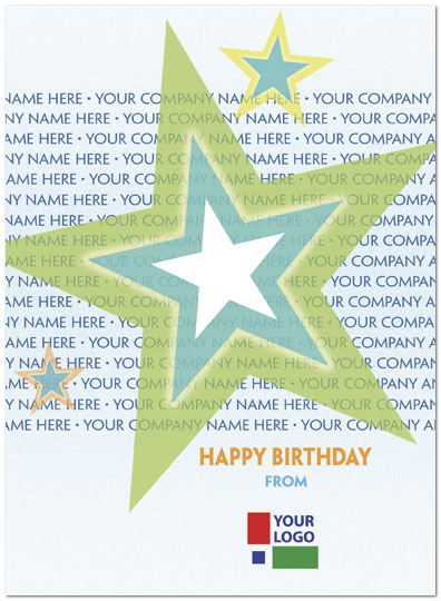Birthday Stars Name Card D2092U-V