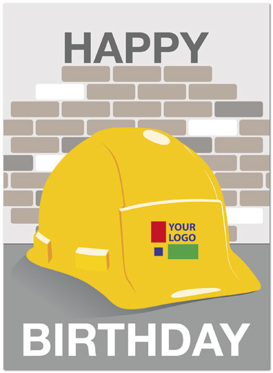 Hard Hat Logo Card
