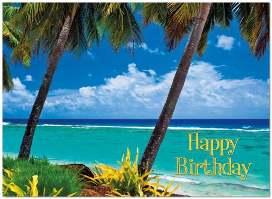 beach birthday card  travel birthday cards  posty cards, Birthday card