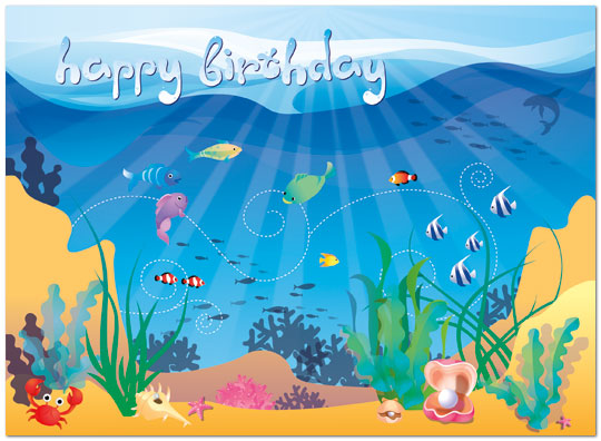 Under the Sea Birthday Card | Children's Birthday Cards | Posty Cards