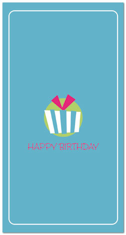 Package Icon Birthday Card A3042T Z Zoom