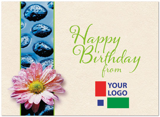 Birthday Zen Logo Card Logo Birthday Cards Posty Cards