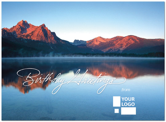 Moutain Lake Logo Card Logo Birthday Cards Posty Cards