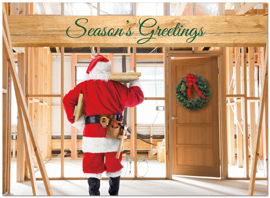 Construction Christmas Cards Business