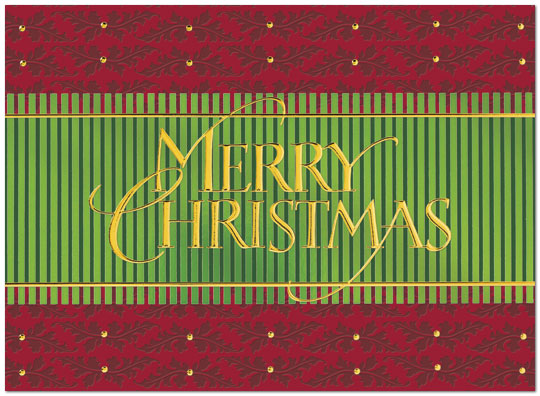 Patterned Christmas Card H3152G-AAA
