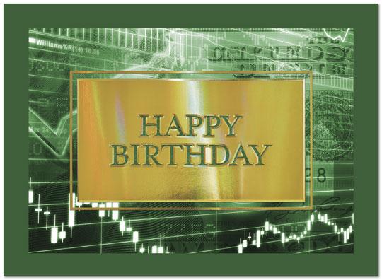 Money Market Birthday Card Financial Birthday Cards – Wall Street Birthday Cards