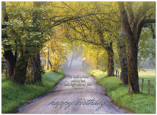 Birthday path card religious birthday cards posty cards zoom bookmarktalkfo Choice Image