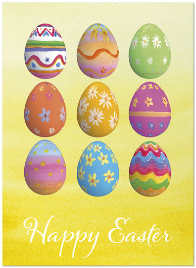 Easter egg patterns card business easter cards posty cards zoom m4hsunfo