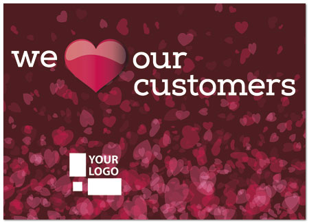 Red hearts logo card business valentines day cards zoom colourmoves