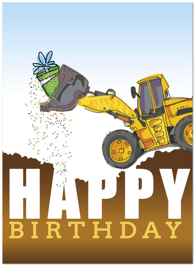 Dozer Surprise Birthday Card