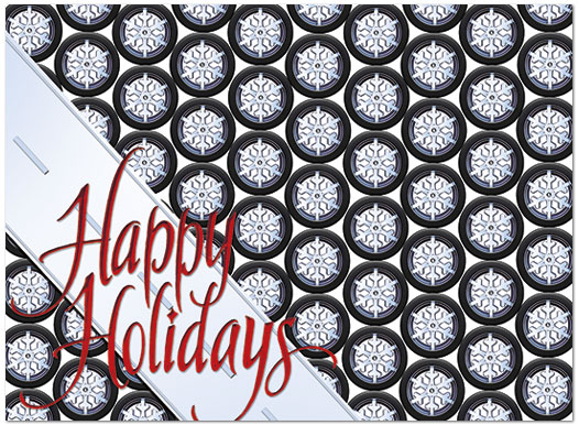 Snow Tires Holiday Card H4221U-AA