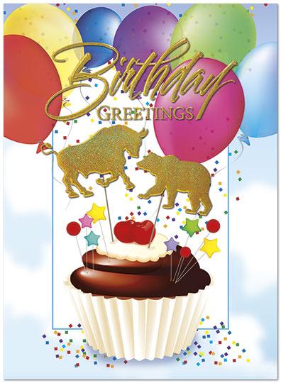 Wall street cupcake card financial birthday cards posty cards wall street cupcake birthday card a5035u x zoom m4hsunfo