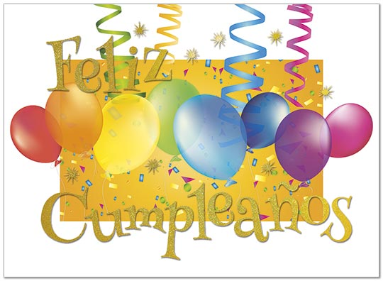 feliz cumpleaños greeting card  spanish birthday cards  posty cards, Birthday card
