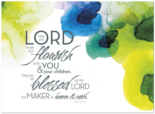 Watercolor blessing birthday card religious birthday cards posty zoom bookmarktalkfo Choice Image