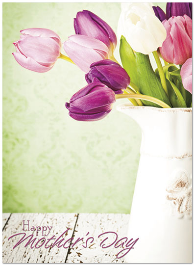 Mother's Day Tulips Card A6042U-X