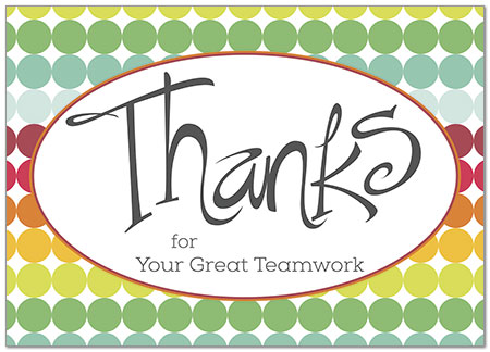 Teamwork Thanks Employee Thank You Cards Posty Cards