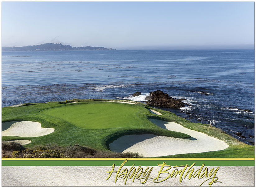 Pebble Beach Birthday Card A6014U-X