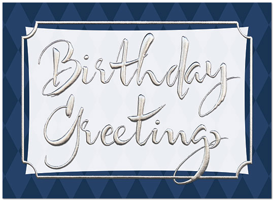 Corporate Birthday Card A7005S-W