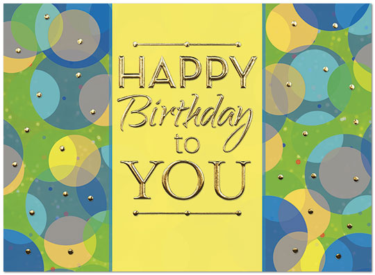 Colorful Wishes Birthday Card A7006G-W