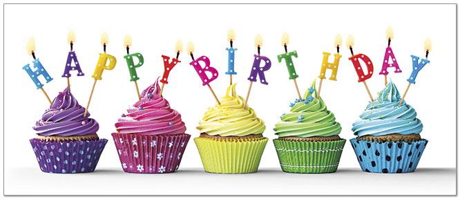 Bright Cupcakes Birthday Card Business Birthday Cards Posty Cards