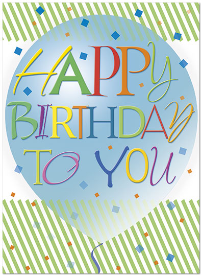 Graphic Balloon Birthday Card