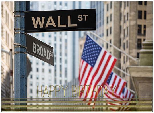 Wall Street Birthday Card Financial Birthday Cards – Wall Street Birthday Cards