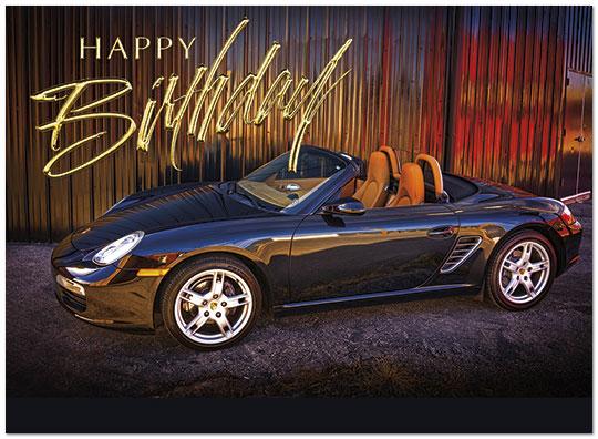 Birthday Porsche Auto Birthday Cards Posty Cards