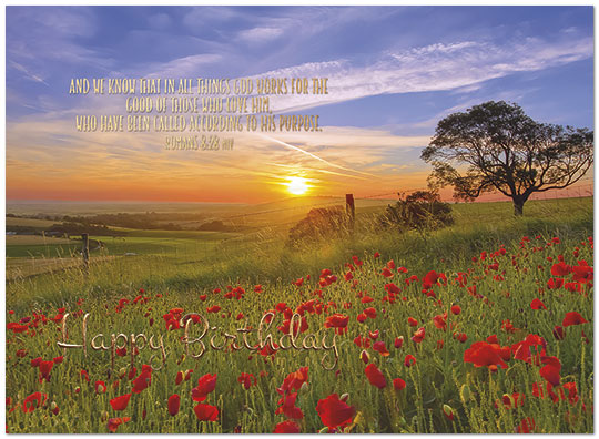 Sunset Blessings Birthday Card