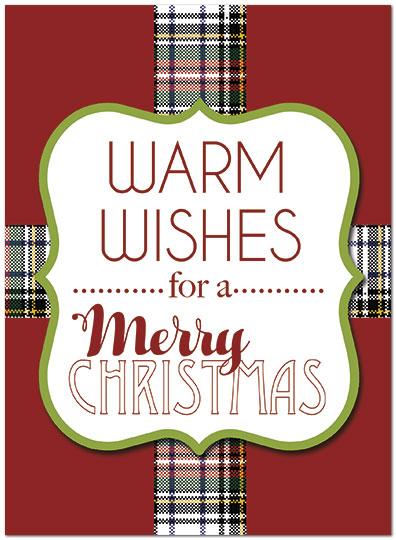 Plaid christmas card bulk business christmas cards posty cards zoom reheart Images